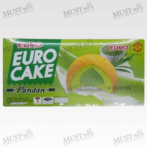 Euro Custard Cake Puff Cake and Sweet Pandan Cream (12 pieces in 1 box)