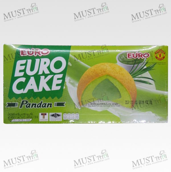 Euro Custard Cake Puff Cake and Sweet Pandan Cream (12 pieces in 1 box)