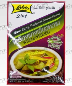 Lobo 2in1 Green Curry Paste with Creamed Coconut 100g