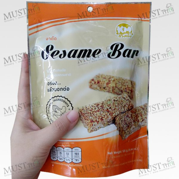 KMsnack Sesame Bar 126g Thai