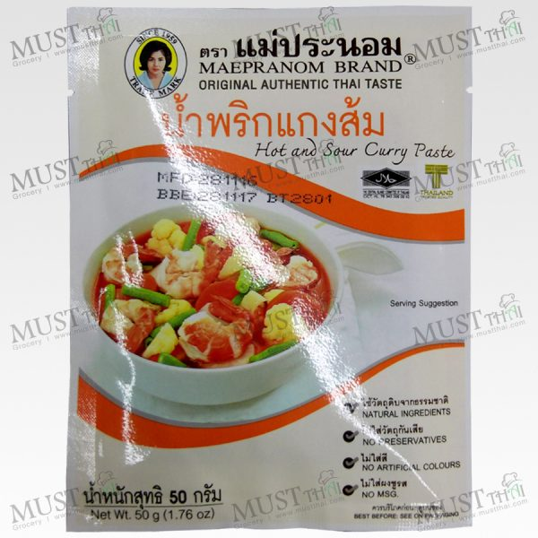 Mae Pranom Hot and Sour Curry Paste 50g