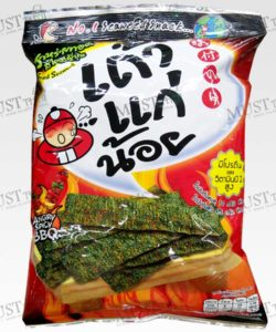 Taokaenoi Crispy Fried Seaweed Spicy BBQ 32g Thai