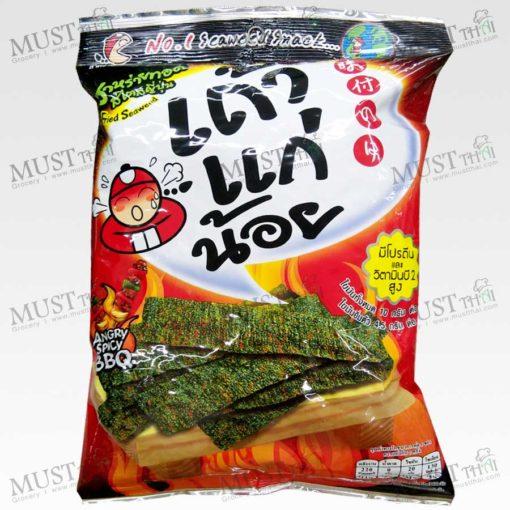 Taokaenoi Crispy Fried Seaweed Spicy BBQ 32g Thai