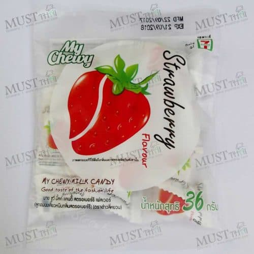 Chewy Milk Candy Strawberry Tropical Flavour– Haoliyuan (36g)