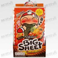 Taokaenoi Big Sheet Seaweed Tom Yum Goong Flavor 3.5g Box 12
