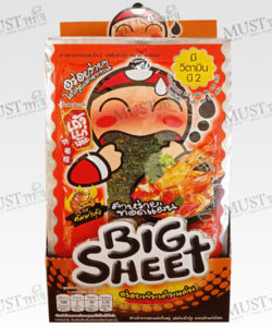 Taokaenoi Big Sheet Seaweed Tom Yum Goong Flavor 3.5g Box 12