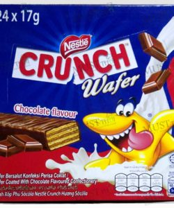 Nestlé Crunch Wafer Chocolate Flavoured Wafer Coated With Chocolate Flavoured Confectionery.
