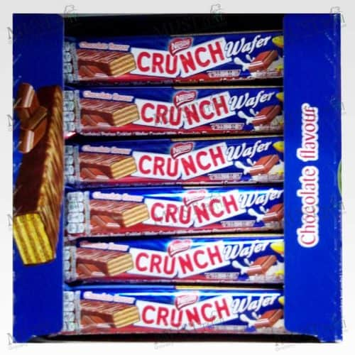 Nestlé Crunch Wafer Chocolate Flavoured Wafer Coated With Chocolate Flavoured Confectionery.