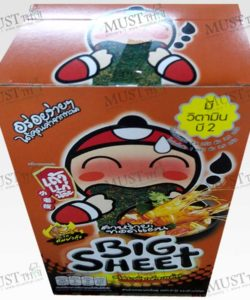 Taokaenoi Big Sheet Seaweed Tom Yum Goong Flavour Box Thai