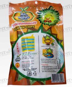 Crisp Fried Durian Chips Snack Real Fruit Mr. Tong