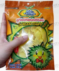 Crisp Fried Durian Chips Snack Real Fruit Mr. Tong