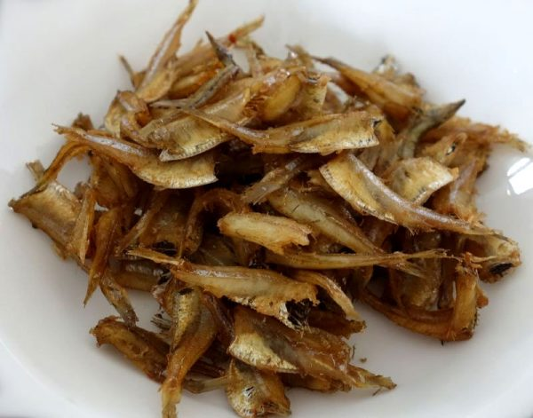 Anchovies are a kind of small dried fish contains very high percentage of calcium.