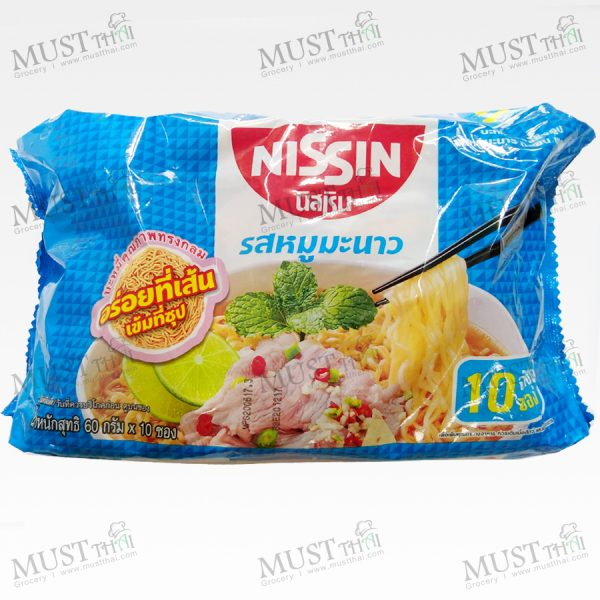 Instant noodles Moo Manao Flavour - Nissin Pack (60gx10)