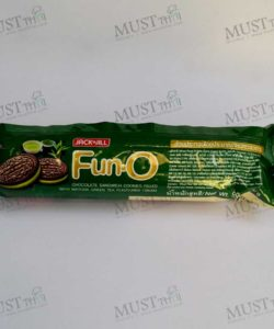 Chocolate Sandwich Cookies Filled With Green Tea Cream Flavoured – Fun O (90g)