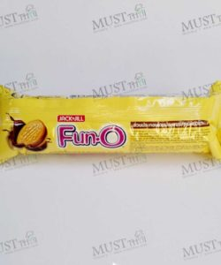 Sandwich Cookies Filled with Chocolate Cream – Fun O (90g)