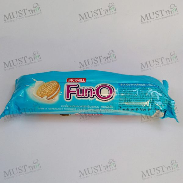 Sandwich Cookies Filled With Milk Cream – Fun O (90g)