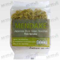 Mendake Japanese Style Green Noodles from Sprirulina 180g