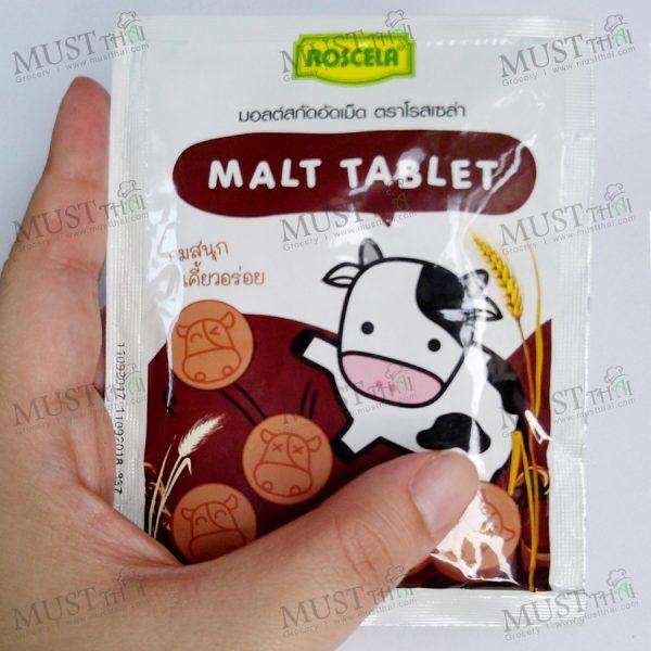 Malt Tablet Sweetened Flavoured - Roscela (20g)