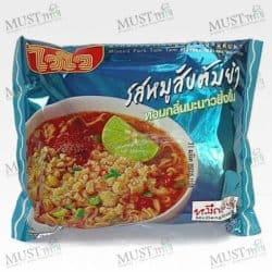 Instant Noodles Minced Pork Tom Yum Flavour - Wai Wai (Pack of 60g x 5pcs)