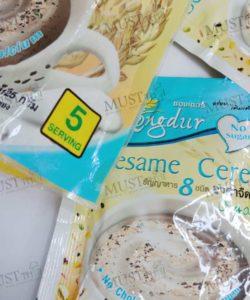 Xongdur Black Sesame No Sugar Instant Cereal Beverage - Xongdur (125g.) 25g x 5pcs