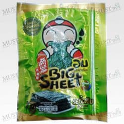 TaoKaeNoi Original Flavor Korean Style Roasted Big Sheet Seaweed 13g