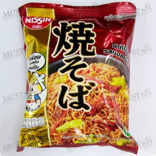 Instant Noodle Yakisoba Japanese Sauce Flavour - Nissin (60g)