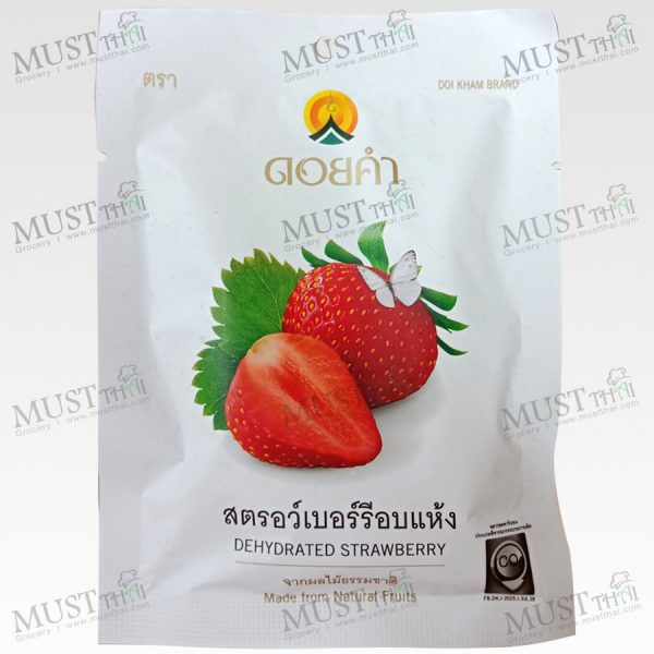 DoiKham Dehydrated Strawberry 25g Thai