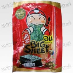Hot&Spicy Flavour Korean Style Roasted Big Sheet Seaweed - Taokaenoi (13.5g)