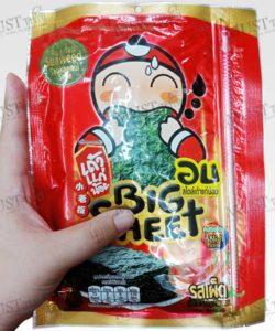 Hot&Spicy Flavour Korean Style Roasted Big Sheet Seaweed - Taokaenoi (13.5g)