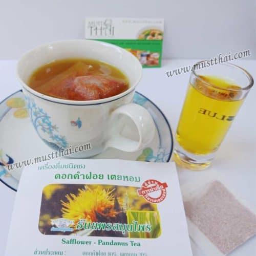 Thanyaporn Safflower with Pandanus tea herbs Thai