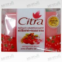 Citra Tomato+Collagen Whitening Scrub Bar Soap 110g