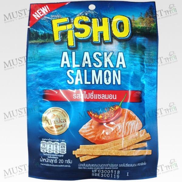 Fisho Alaska Salmon Spicy Salmon Flavour Fish Snack 20g