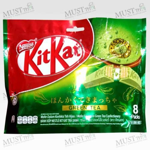 KitKat Wafer Finger in Green Tea Confectionery 136g Pack of 8