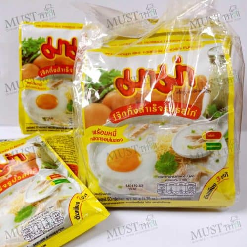 Mama Jok Instant Porridge Chicken Flavour 50g 12 bags