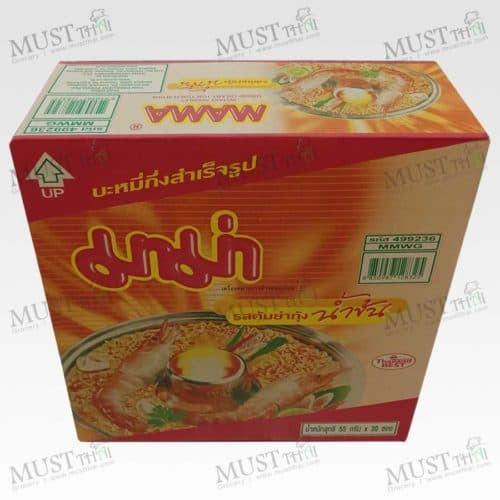 Mama Shrimp Creamy Tom Yum Flavour Instant Noodles 55g box of 30