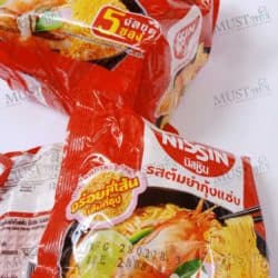 Instant Noodle Nissin Tom Yum Kung Saep Flavour.