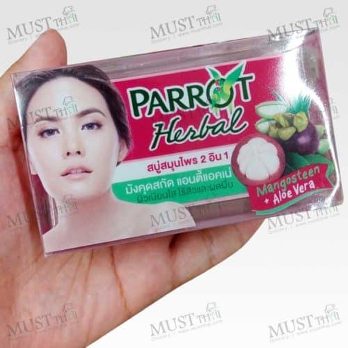Parrot Herbal Mangosteen + Aloe Vera 2in1 Herbal Soap 130g