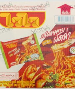 Wai Wai Pad Char Dry Baby Clam Flavour Instant Noodles 60g box of 30