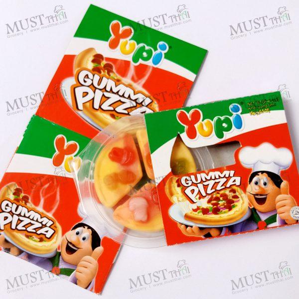 Mixed Fruits Flavour Gummy Gummi Pizza - Yupi 15g