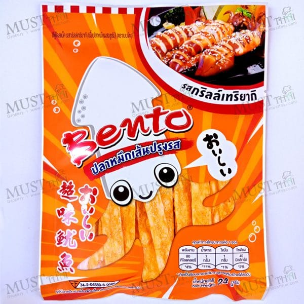 Bento Grilled Teriyaki Flavour Seafood Snack 23g