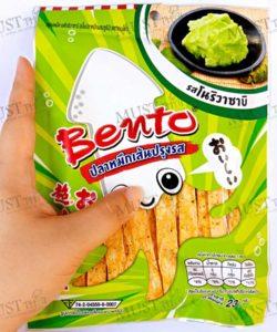 Bento Nori Wasabi Flavour Seafood Snack 23g