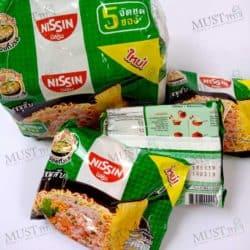 Nissin Instant Noodles Minced Pork Flavour.