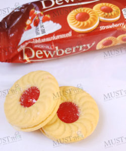 jack & jill Dewberry Sandwich Cookies with Cream Strawberry Jam Flavoured