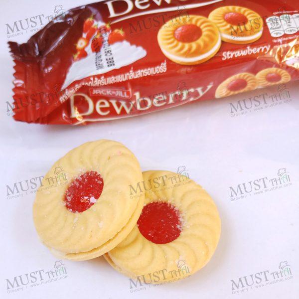 jack & jill Dewberry Sandwich Cookies with Cream Strawberry Jam Flavoured