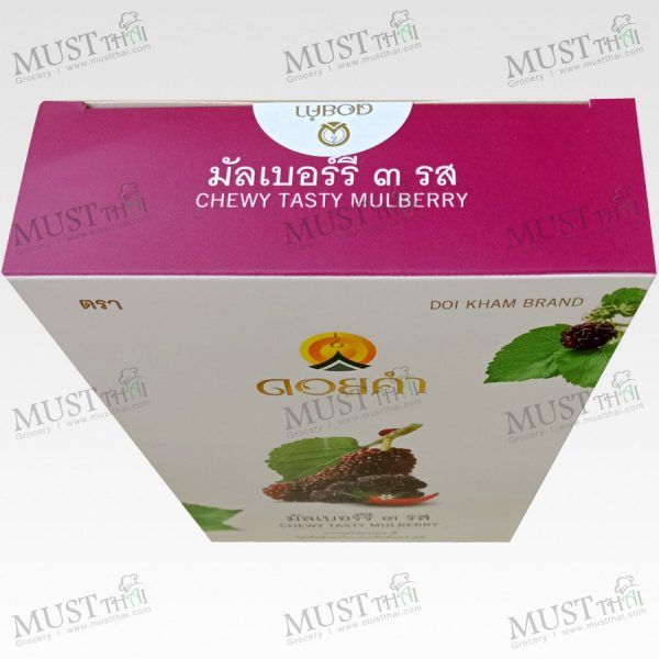 Doi Kham Dehydrated Mulberry 3 flavors fruit Snack