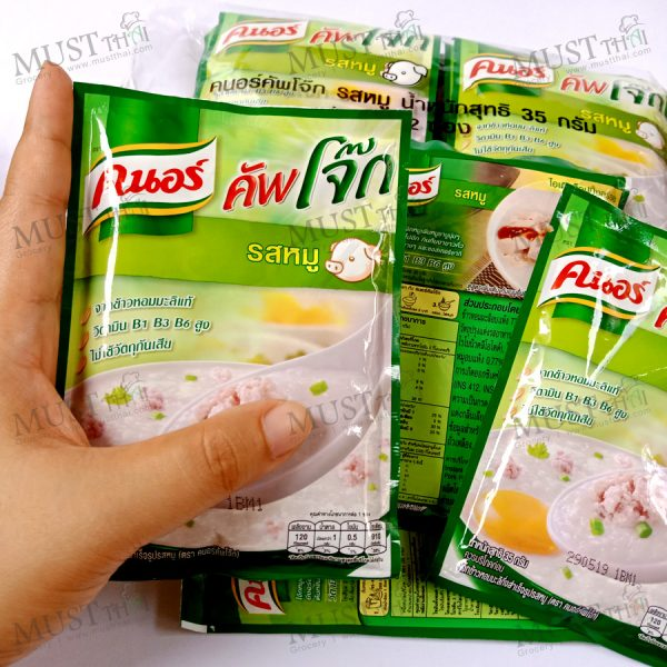 Knorr Jok Instant Porridge Pork Flavour 35 g pack of 12