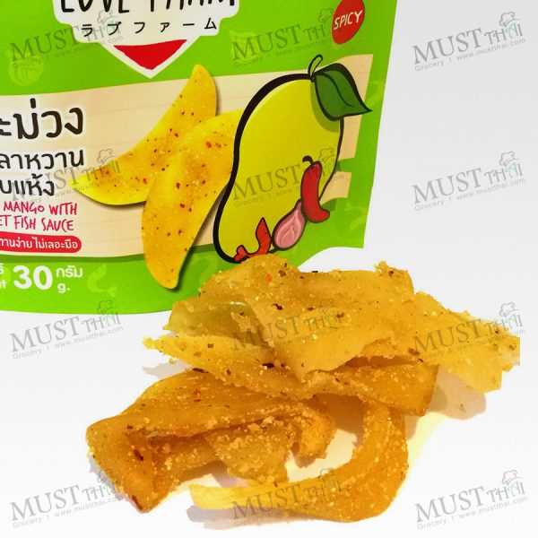 Dried Mango with Sweet Fish Sauce Spicy Fruit.