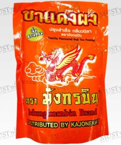 MungKornBin Vanilla Flavoured Red Tea Powder (Orange Bag)