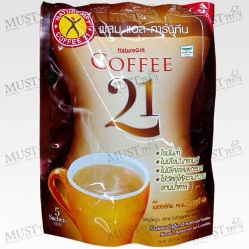 Naturegift Coffee 21 Instant Coffee Powder with L-Carnitine 13.5g x 5 sachets