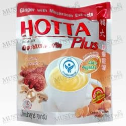 Hotta Plus Ginger with Mushroom Extracts Instant Ginger Drink 7g x 10 Sachets